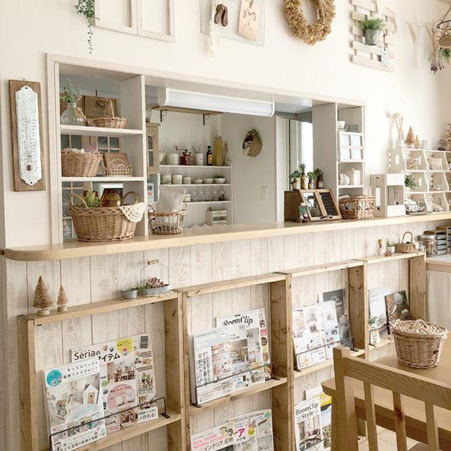 ブックカフェ風の部屋の実例集3