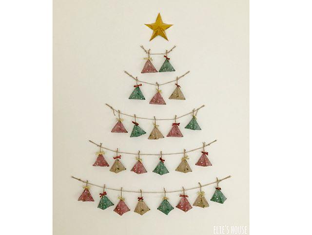 ペーパークラフトのかわいいシンプルなクリスマス飾り2
