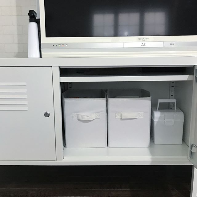 シンプルで使い回せる☆万能なニトリの収納ボックス3