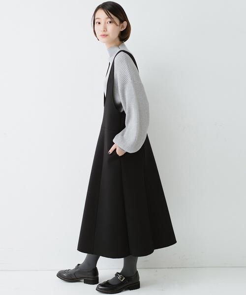 ふんわり感がレトロかわいい フレアージャンパースカート