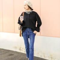 寒い季節も女性らしさを忘れない!可愛いシャツ・ブラウスコーデ20選♡