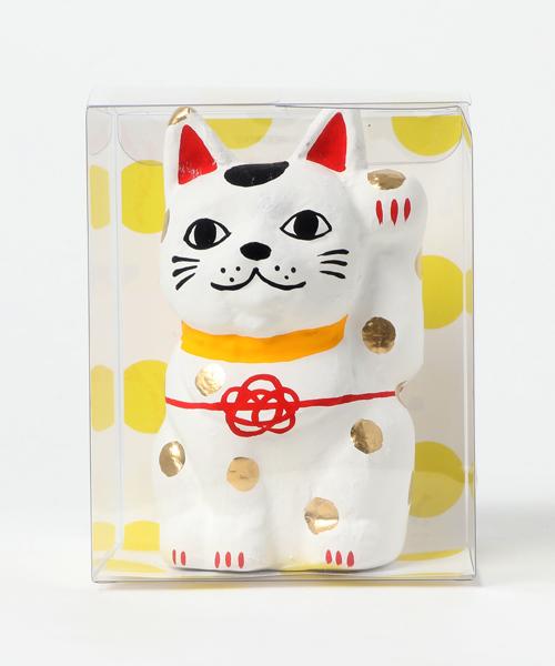 【カヤ】招き猫 水玉