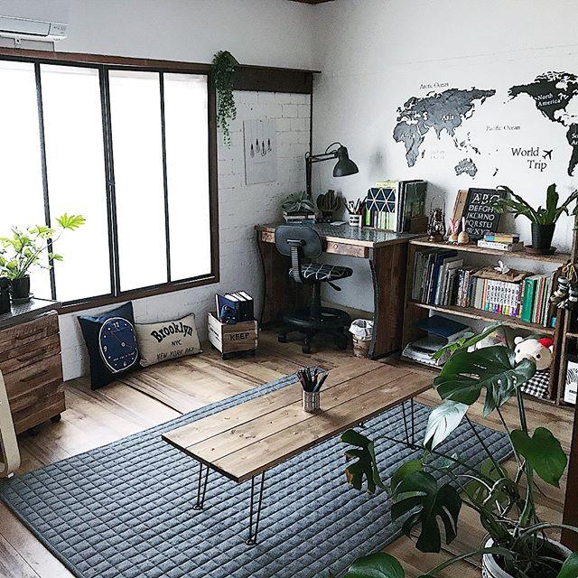 ブックカフェ風の部屋の実例集2