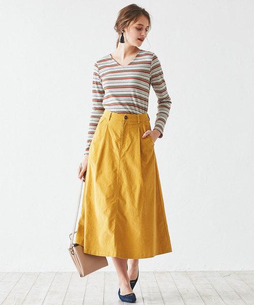 [titivate] フロントタック台形スカート