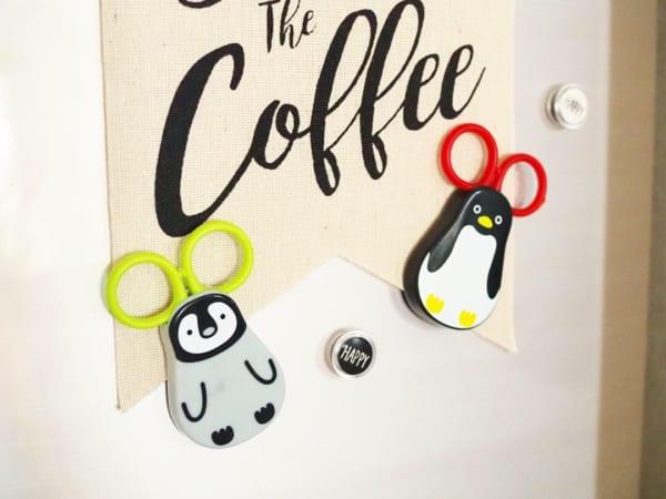 ■13.【キャンドゥ】マグネット付はさみ ペンギン2