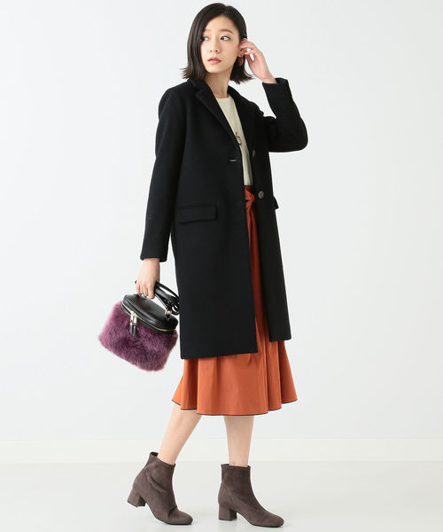 [B:MING LIFE STORE by BEAMS] ビーミング by ビームス / メルトン チェスターコート 18AW