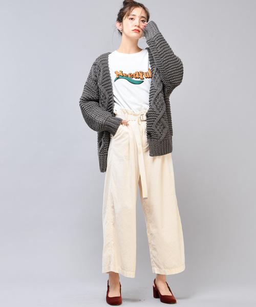 [CIAOPANIC] ベルト付きシャツコールワイドタックパンツ