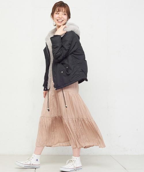 [natural couture] ショートモッズコート