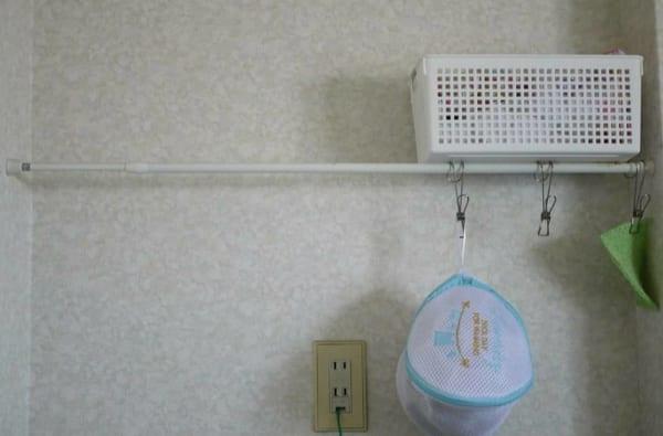 つっぱり棒を使用した収納例19