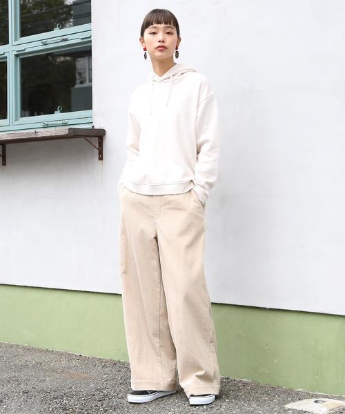 [coen] 【新色追加】コーデュロイワイドパンツ
