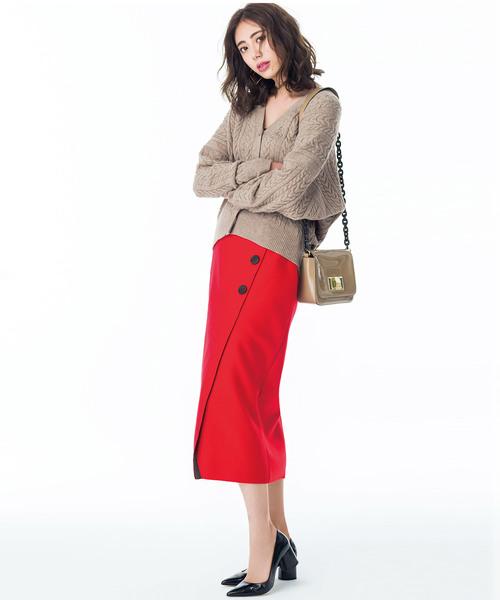 [Ranan] ボタン使いタイトスカート