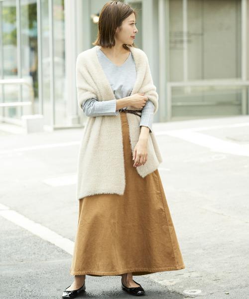 [CIAOPANIC TYPY] コーデュロイAラインロングスカート