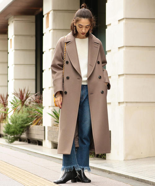 [BEAUTY&YOUTH UNITED ARROWS] BY∴ HAMILTON WOOL MIX ロングPコート