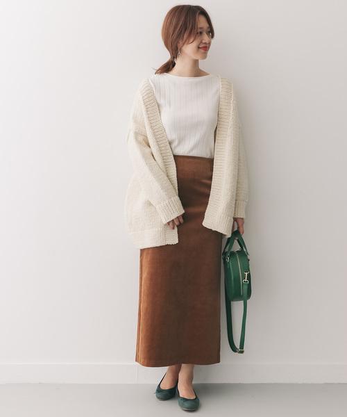 [URBAN RESEARCH DOORS] コーデュロイマキシストレートスカート