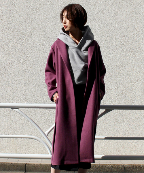 [STYLE AVENUE] カットメルトンチェスターコート