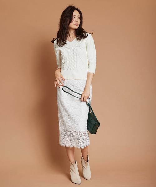 [The Virgnia] コードレースロングタイトスカート