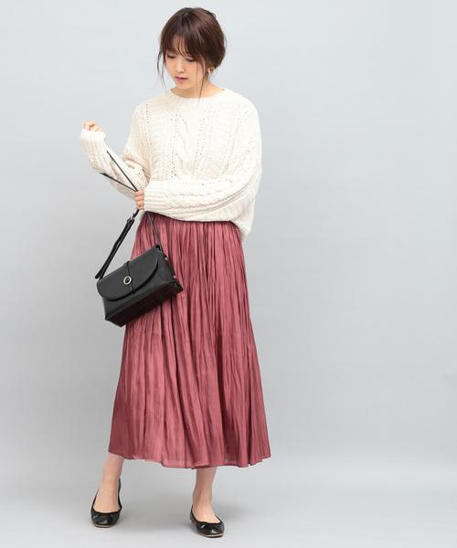 [ViS] 【ヒルナンデス!放映】シャイニーサテンロングスカート