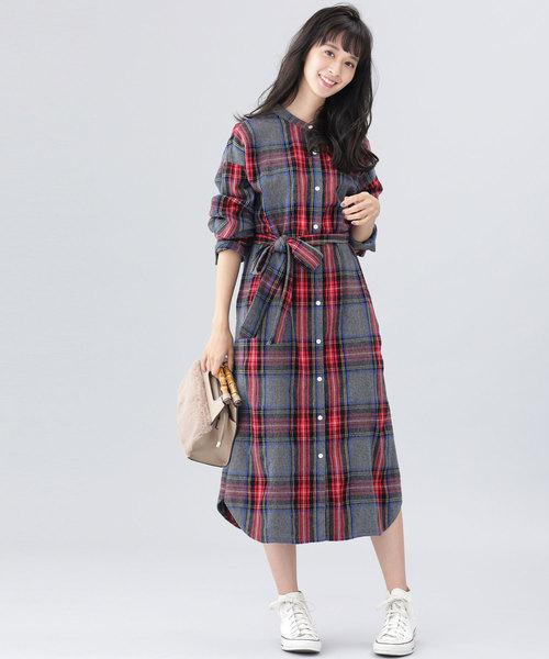 Lee/別注シャツワンピ