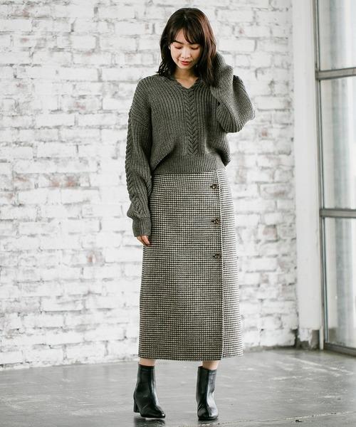 WPリバーラップタイトスカート