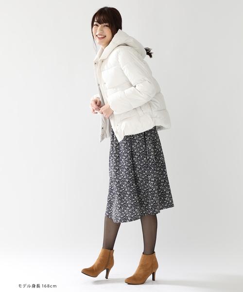 [Honeys] はっ水加工付き 保温性抜群で軽い着心地 中綿フードジャケット