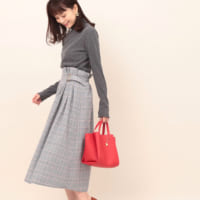 チェックスカートコーデ50選♡大人女性に人気のブランドアイテムをピックアップ!