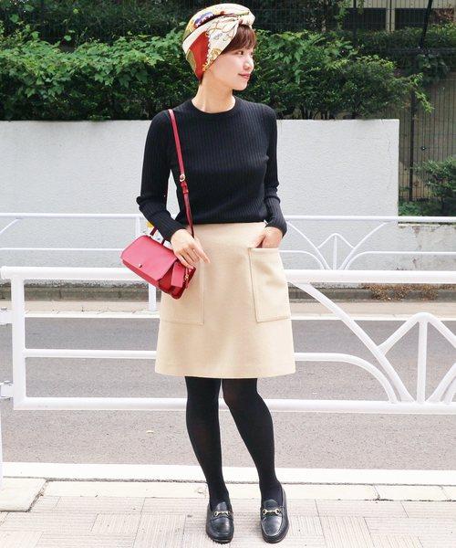 [IENA] ウールビーバー 台形スカート◆