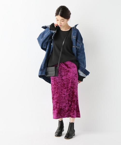 [JOURNAL STANDARD] ベロアタイトスカート