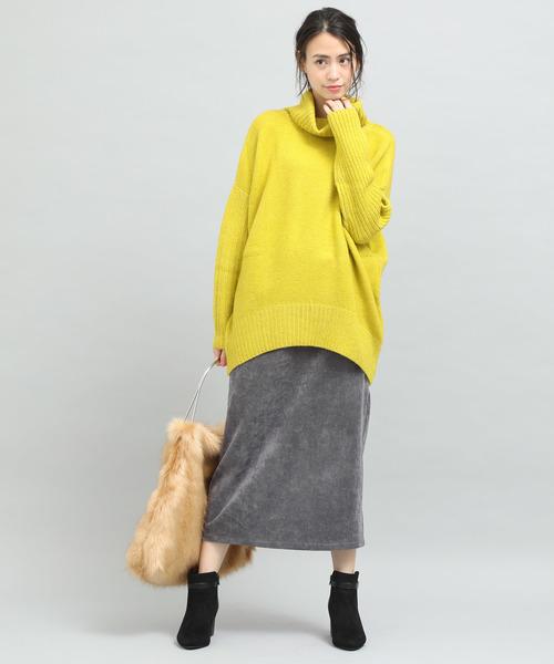 [ViS] コーデュロイタイトロングスカート