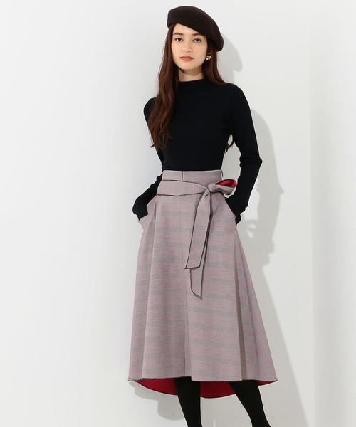 [Jewel Changes] CS G/チェック ボンディング スカート