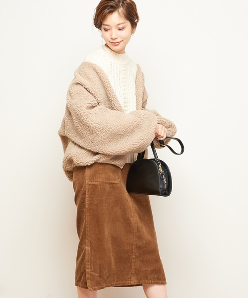 [natural couture] Newボアブルゾン