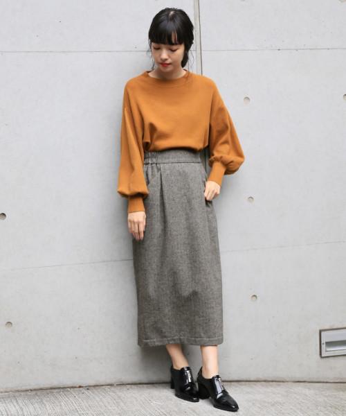 ウールコンタイトスカート