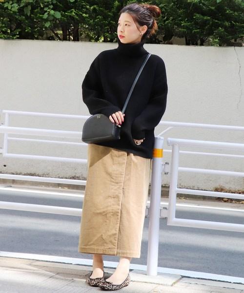 [JOURNAL STANDARD] コーデュロイラップロングスカート