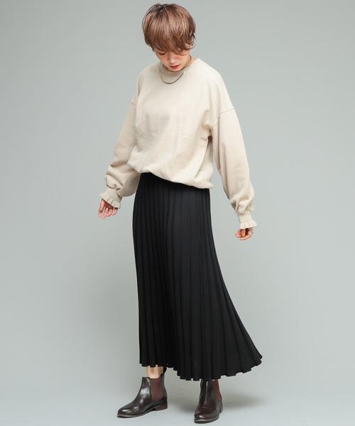 [CIAOPANIC] 【新色追加】ニットプリーツスカート