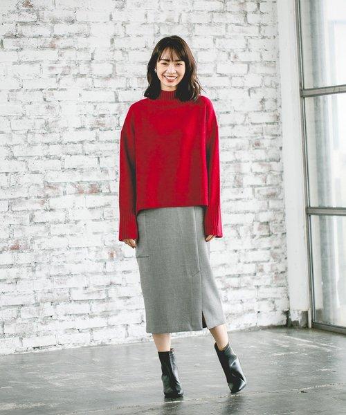 Pカルゼカラーポケタイトスカート