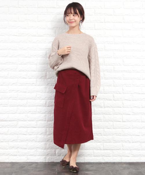 [SESTO] コーデュロイタイトスカート