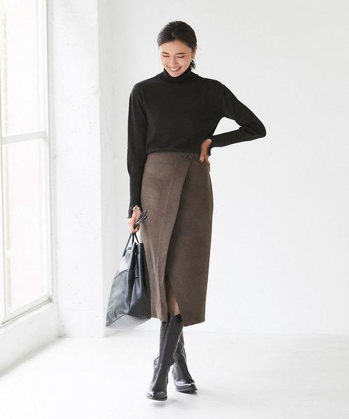 ウールカルゼラップスカート