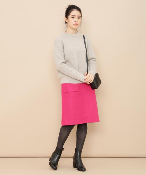 ポケット付き台形スカート