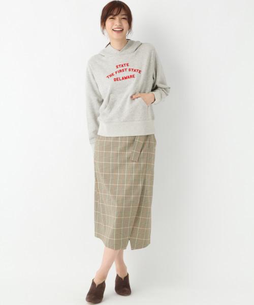 [GLOBAL WORK] チェックラップタイトスカート/804733
