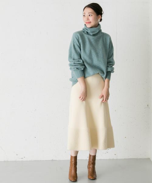 シャギーニットスカート