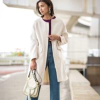 冬を楽しもう♡上品な甘さをアピールできる「白コート」コーデ集