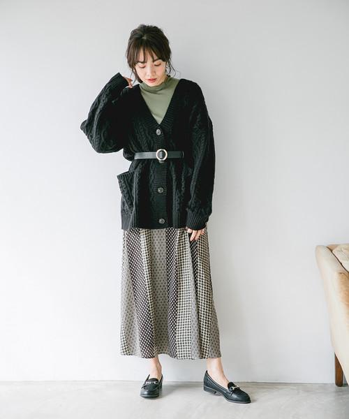 Pパネルガラマキシスカート