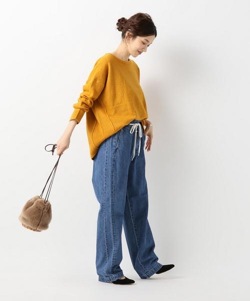 [IENA] EFILEVOL Shoelace Belt デニムパンツ