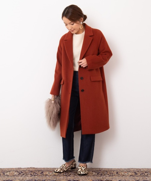 [BANNER BARRETT] MELTON CHESTER COAT/メルトンチェスターコート