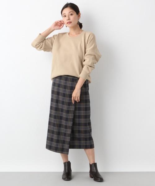 TRPUチェックボックススカート