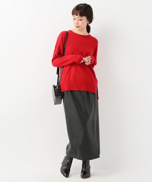 [JOURNAL STANDARD] 【NEU】フェイクレザーロングスカート
