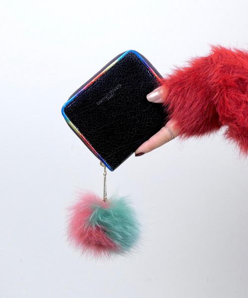 [tsumori chisato CARRY] メタルクラッキング 折財布
