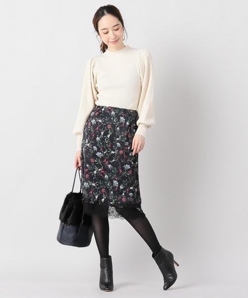 ショコラフラワースカート
