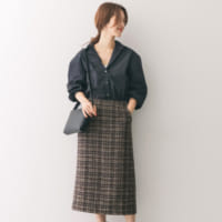 秋冬スカートは「Iライン」を選んで♪今年らしい着こなしにアップデート!