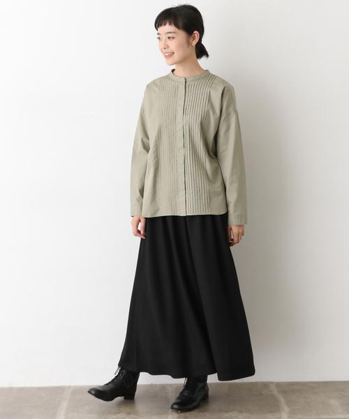 ウールカットロングスカート
