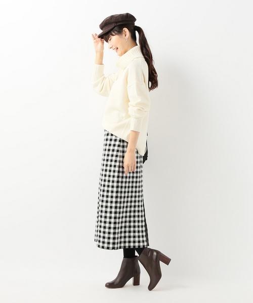 [IENA] ギンガムチェックニットスカート◆